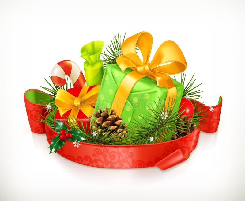 圣诞节礼物传染媒介 向量例证