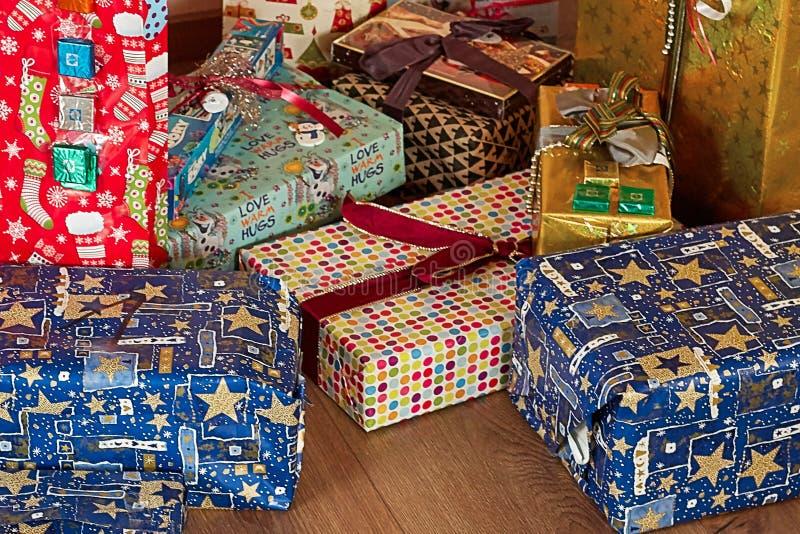 圣诞节礼物和包裹 免版税图库摄影