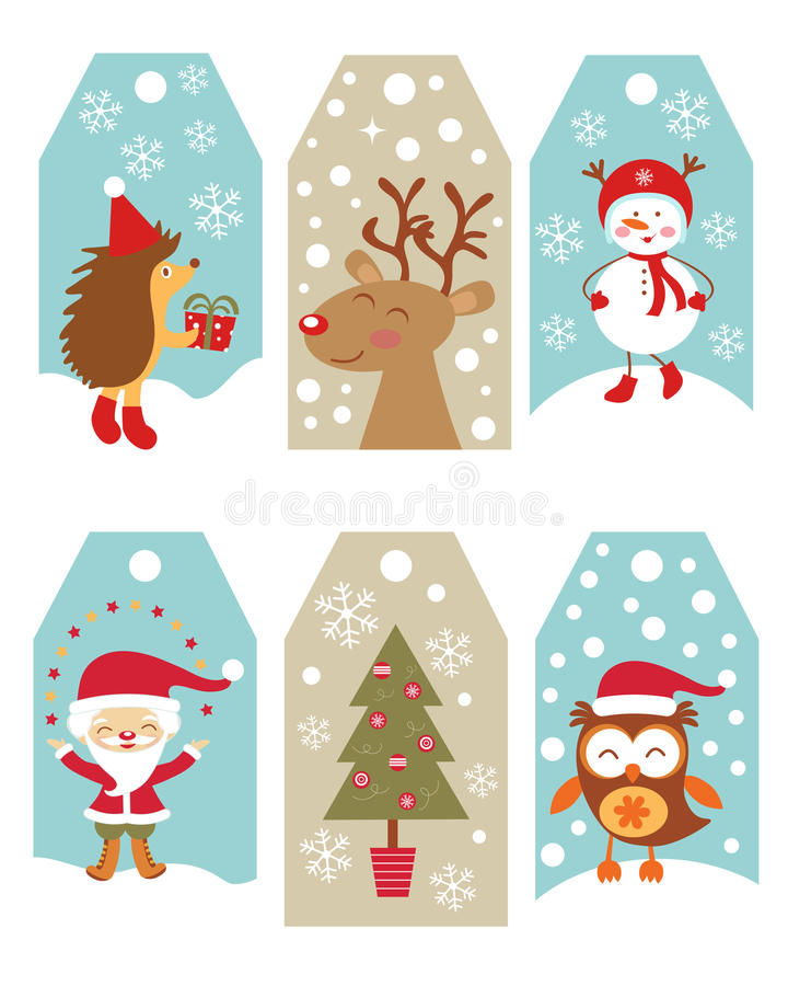 圣诞节礼物标记 库存例证