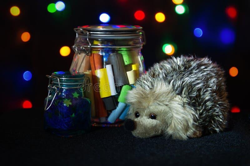 圣诞节礼物概念 与圣诞节愿望的备忘录 图库摄影