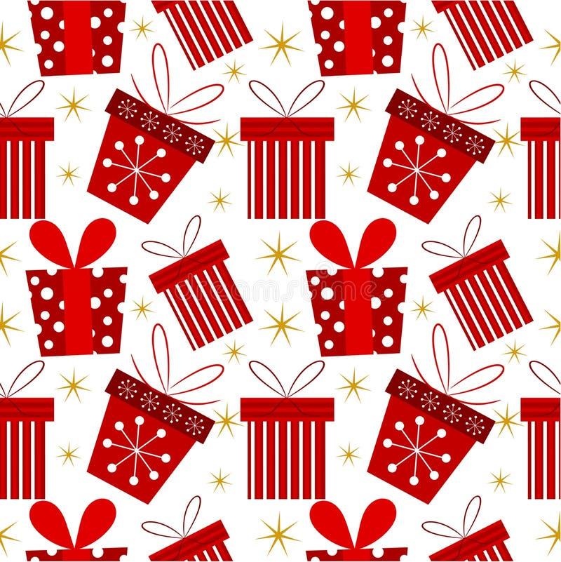 圣诞节礼物模式 皇族释放例证