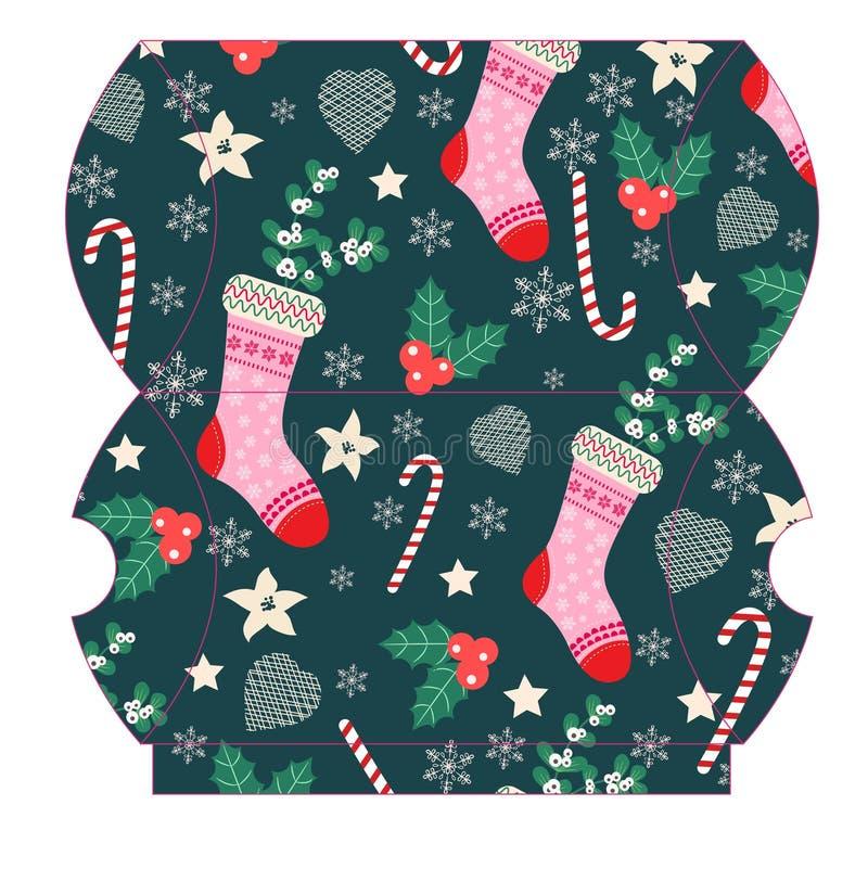 圣诞节礼物盒 向量例证