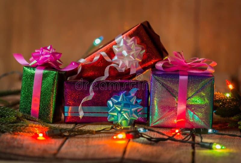 圣诞节礼物盒 免版税库存图片