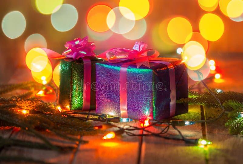 圣诞节礼物盒 库存照片