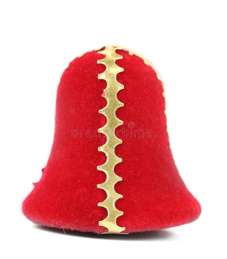 圣诞节礼物红色响铃 免版税库存图片