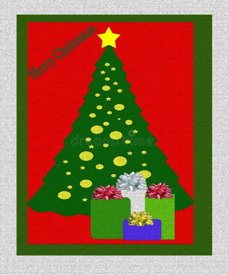 圣诞节礼物结构树 向量例证