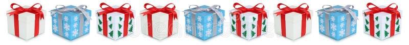 圣诞节礼物连续被隔绝的礼物盒礼物 图库摄影