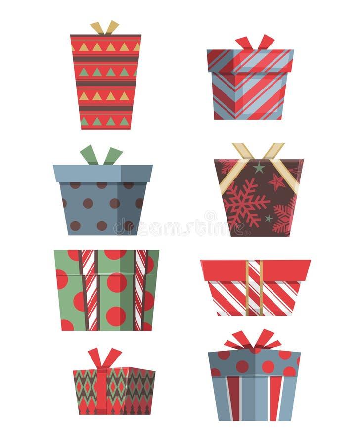 圣诞节礼物集合F 向量例证