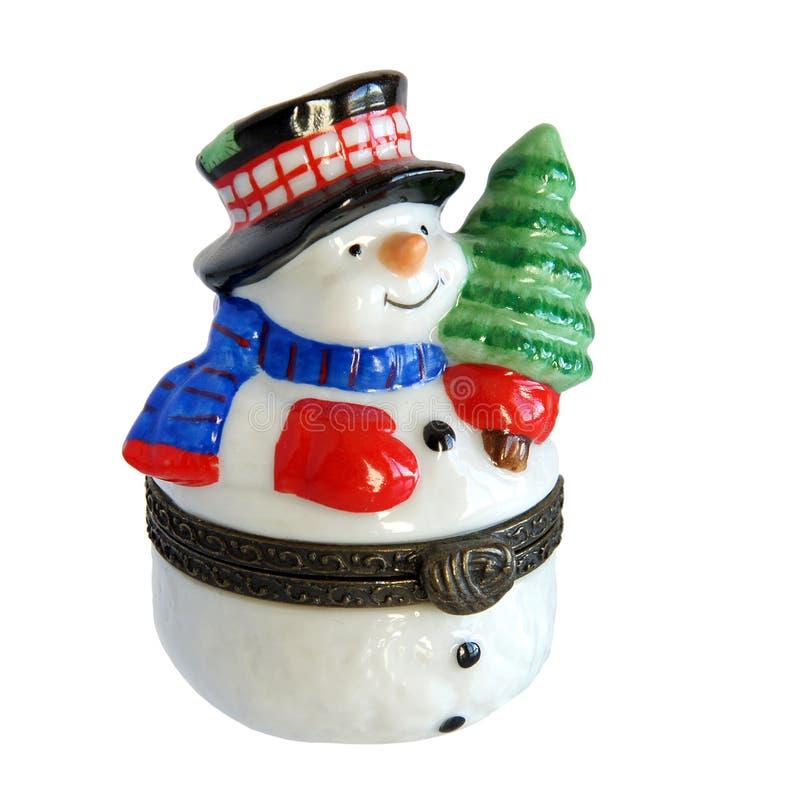 圣诞节礼物雪人 库存照片