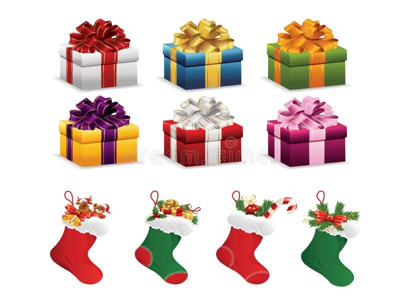 圣诞节礼物 向量例证