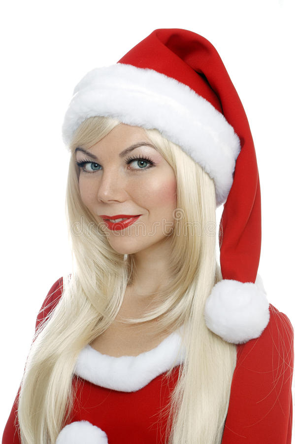 圣诞节秀丽女孩 免版税库存图片
