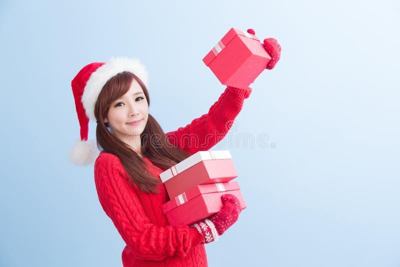 圣诞节秀丽妇女 图库摄影