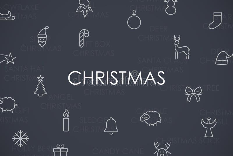 Download 圣诞节稀薄的线象 向量例证. 插画 包括有 传统, 向量, 背包, 储存, 投反对票, 稀薄, 设计, 图标 - 72351453