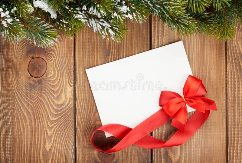 圣诞节空白的贺卡 免版税库存照片