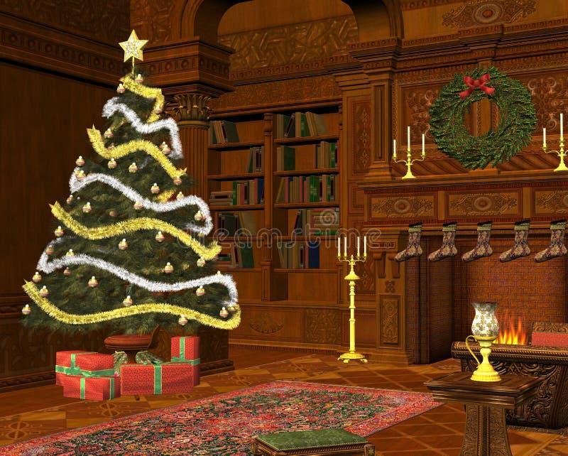 圣诞节空间 皇族释放例证