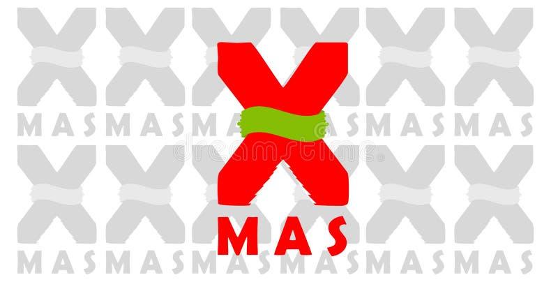 圣诞节符号X-mas 向量例证