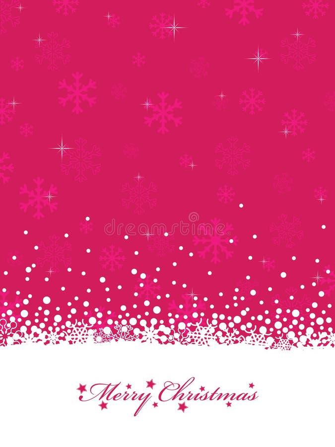 圣诞节粉红色 皇族释放例证
