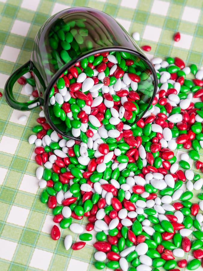 圣诞节糖果自助餐 免版税库存图片