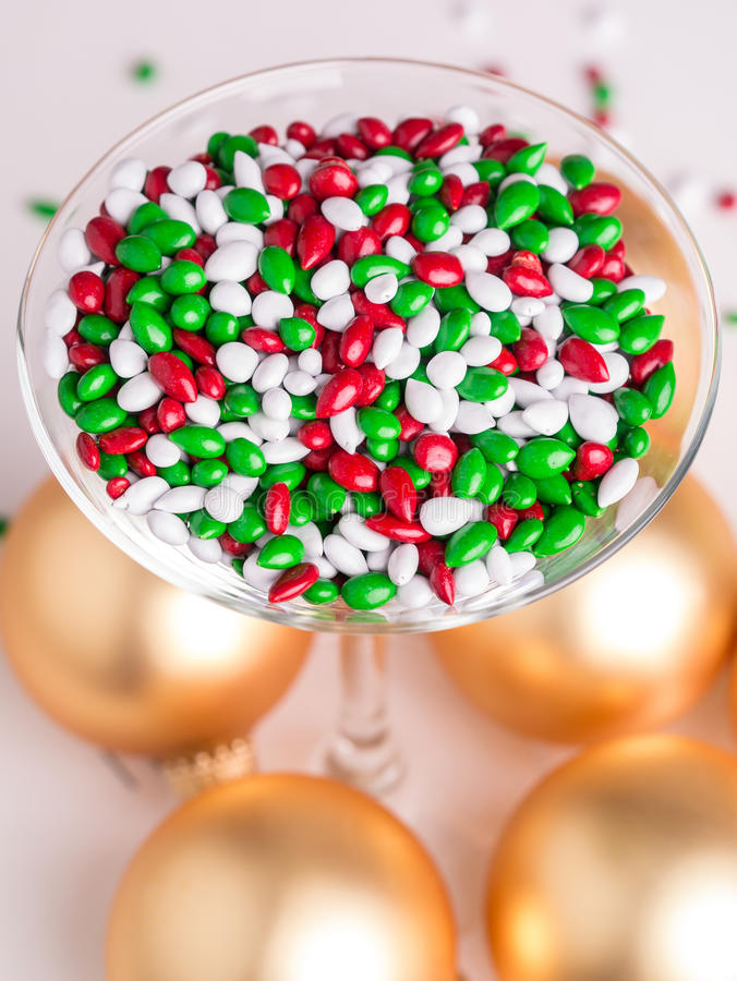 圣诞节糖果自助餐 图库摄影