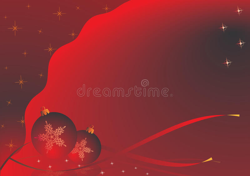 圣诞节红色主题 库存例证