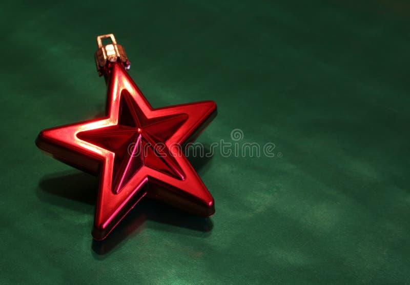 圣诞节红色发光的星形 免版税库存图片