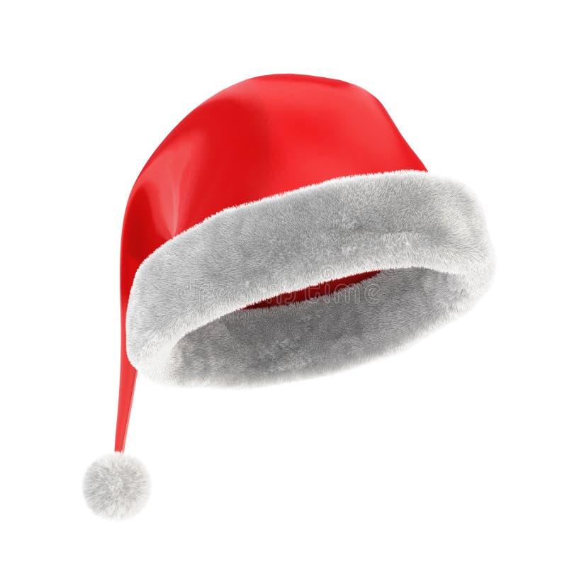 圣诞节红色帽子 库存例证