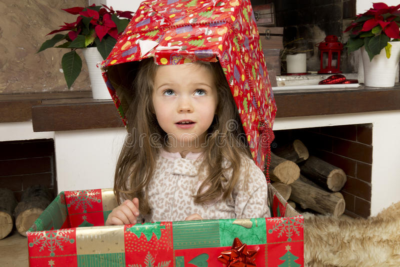 圣诞节红色时钟on12 图库摄影