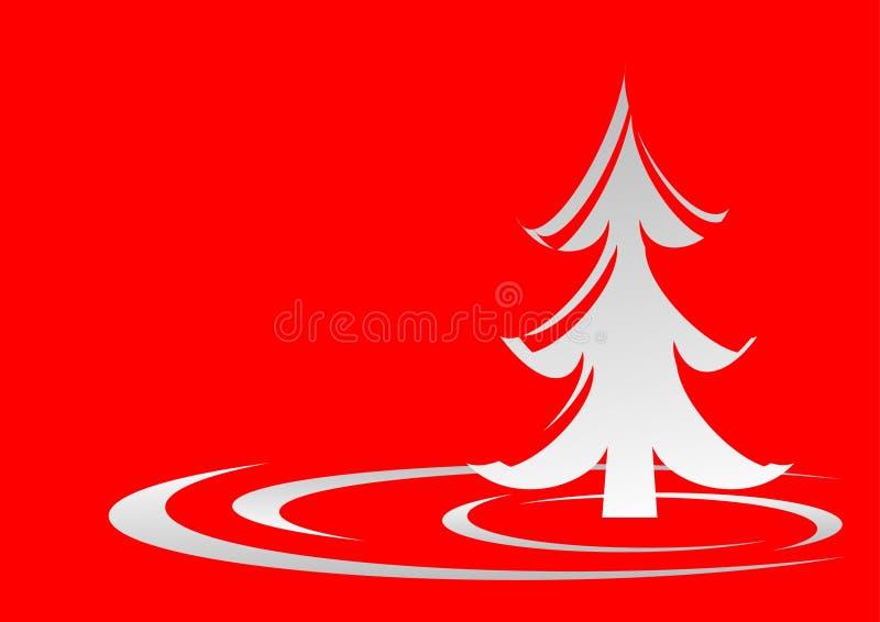 圣诞节红色结构树 向量例证