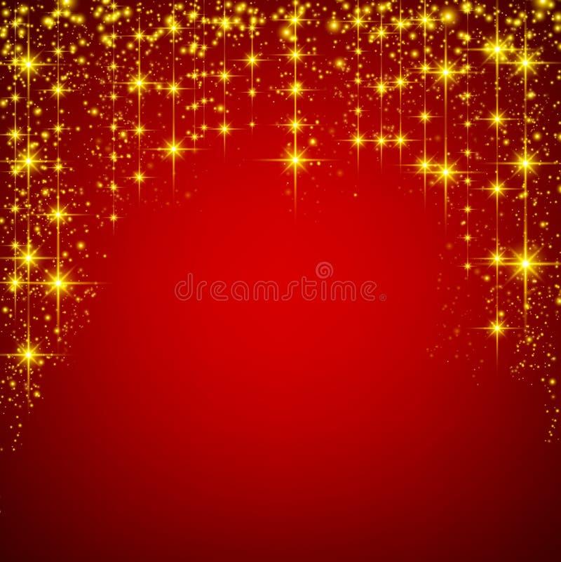 Download 圣诞节红色满天星斗的背景 向量例证. 插画 包括有 快活, 抽象, 魔术, 海报, 金子, 设计, 庆祝 - 62539119
