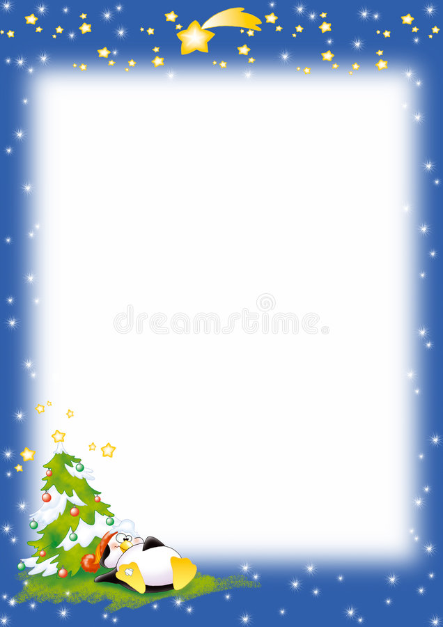圣诞节纸企鹅 向量例证