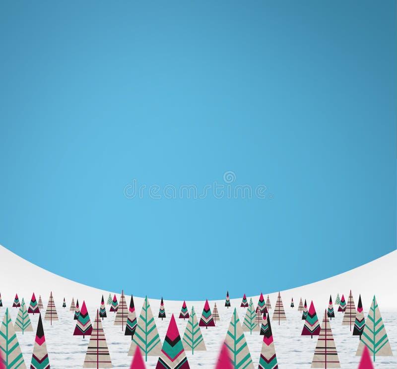 圣诞节纸结构树 库存例证
