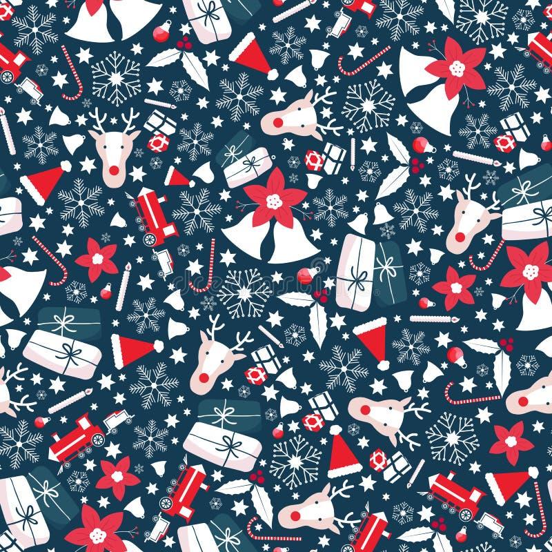 圣诞节纹理平展蓝色白色红色 免版税库存图片