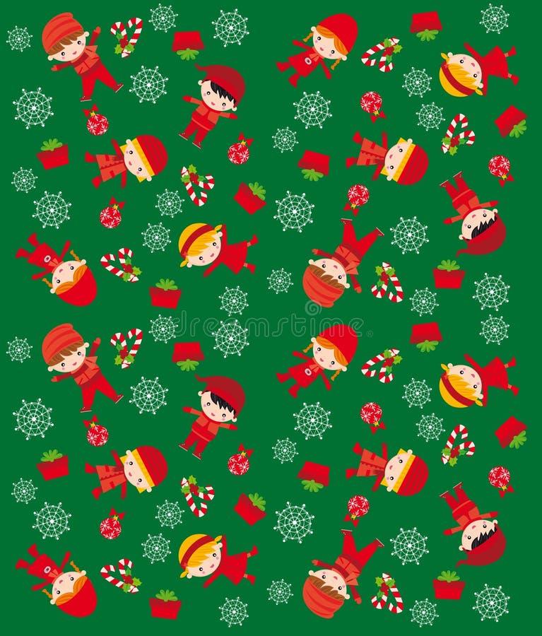 圣诞节纹理 库存例证