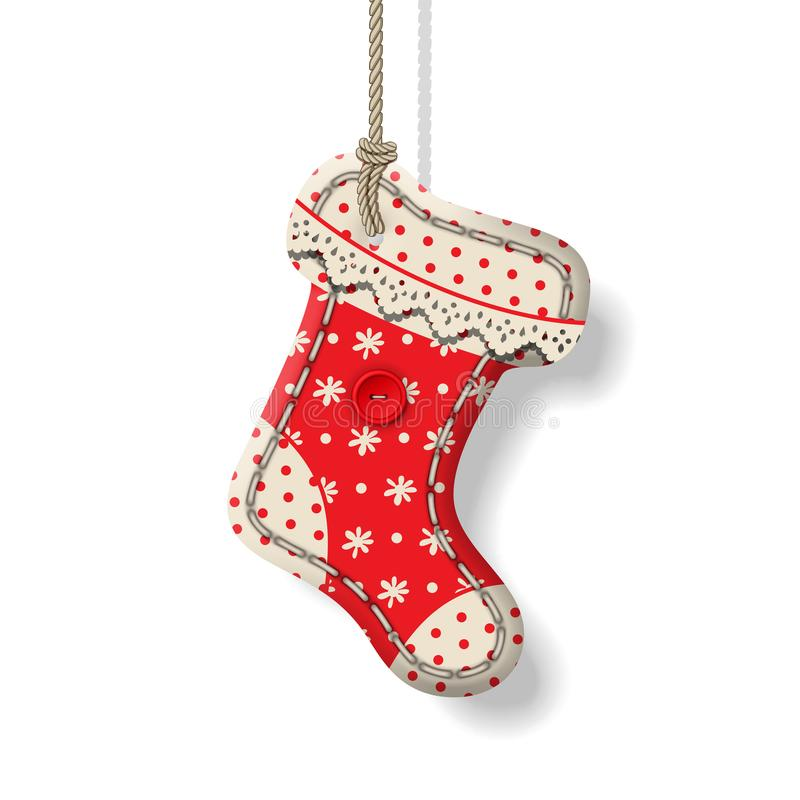 圣诞节纺织品装饰 库存例证