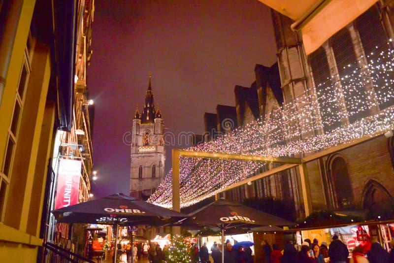 圣诞节绅士市场街市  免版税库存照片
