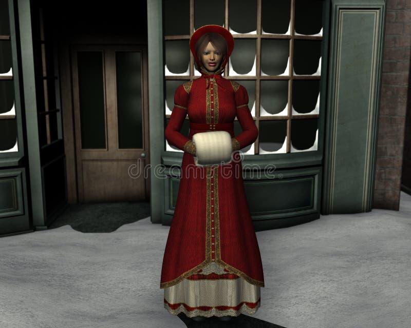 圣诞节维多利亚女王时代的著名人物 皇族释放例证