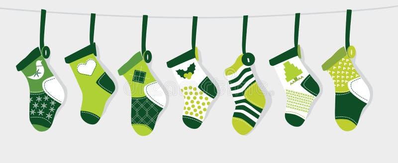圣诞节绿色储存 库存例证