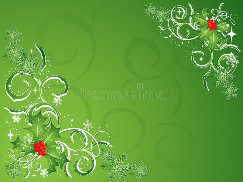 圣诞节绿色向量 向量例证
