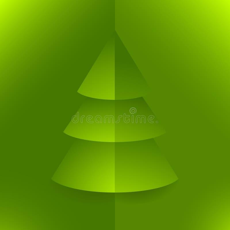 圣诞节绿色流行音乐结构树 皇族释放例证