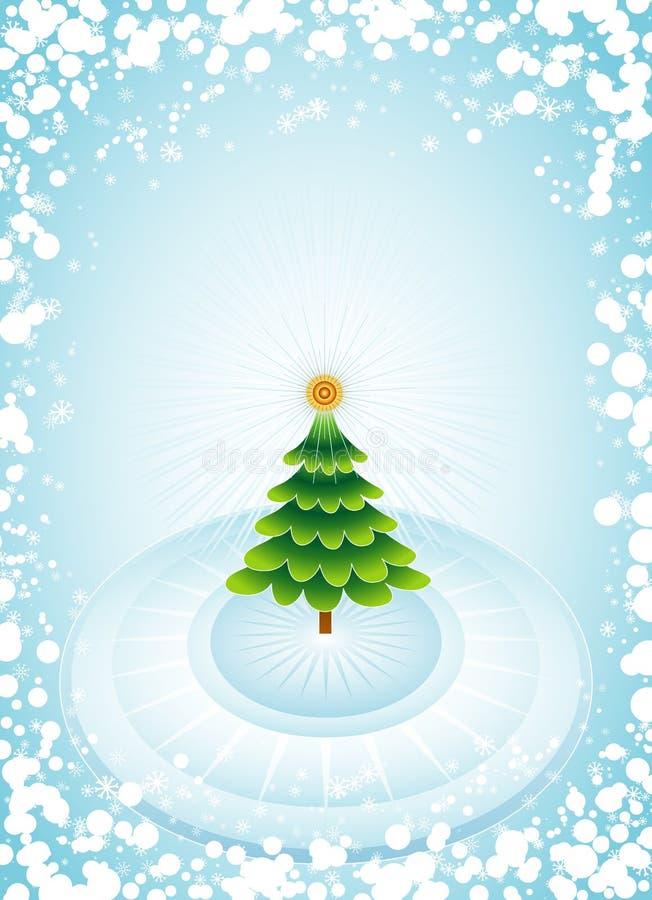 圣诞节绿色结构树向量 皇族释放例证