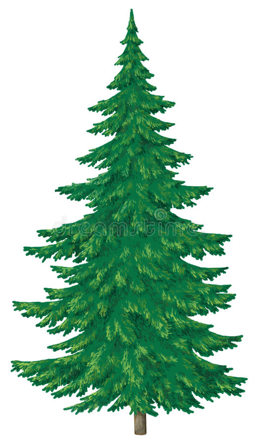 圣诞节绿色结构树 向量例证