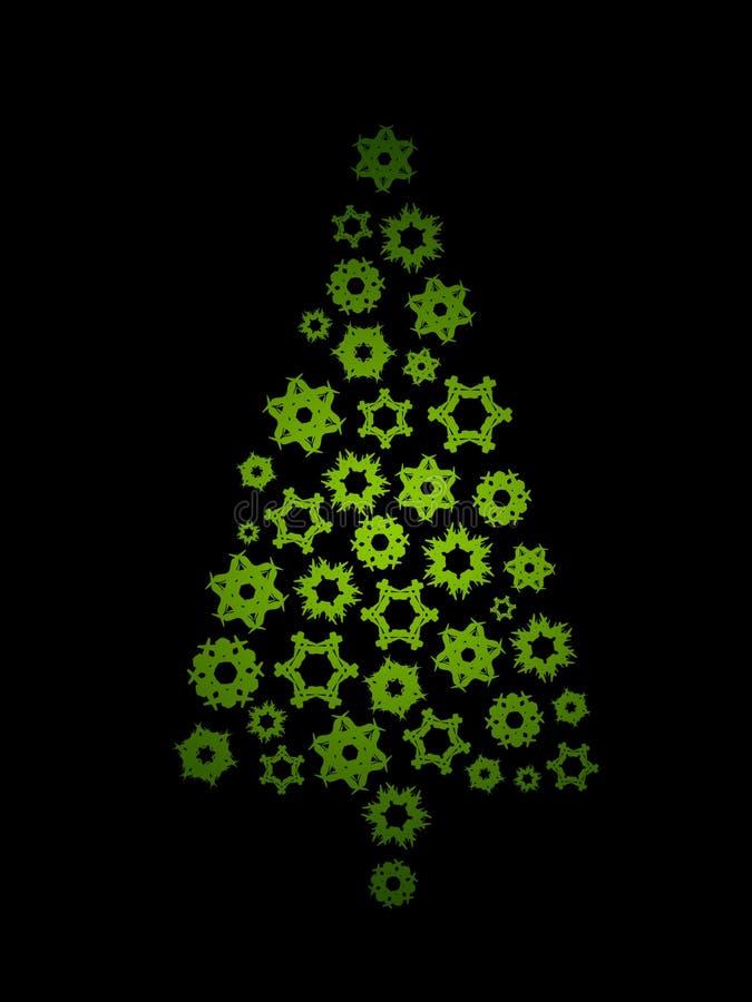 圣诞节绿色结构树 库存例证