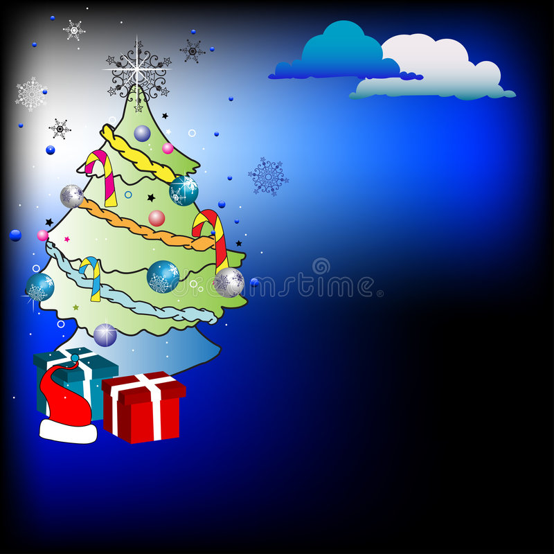 圣诞节绿色结构树 皇族释放例证