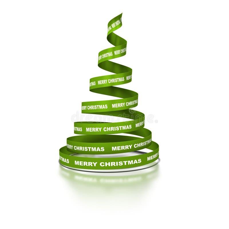 圣诞节绿色结构树xmas 向量例证