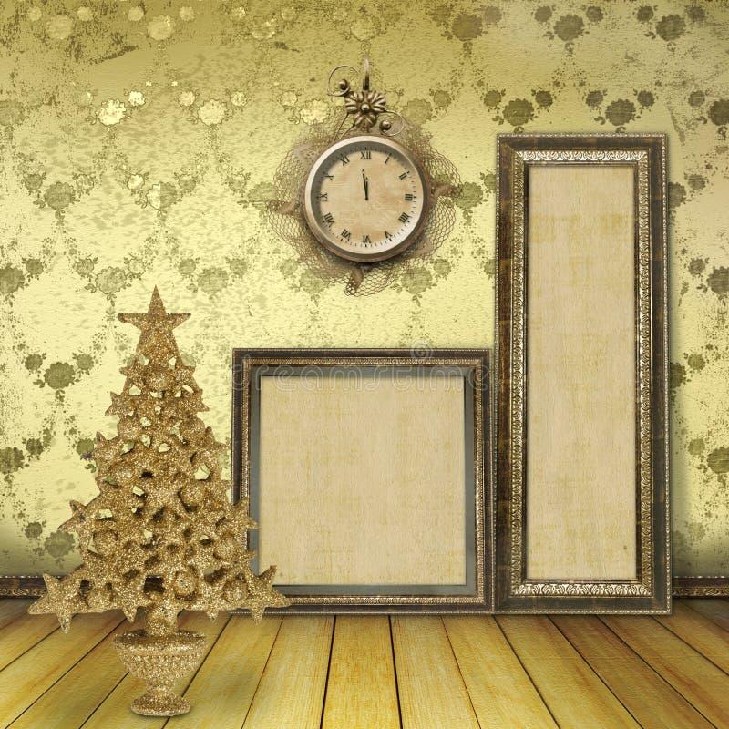 圣诞节老空间结构树 皇族释放例证