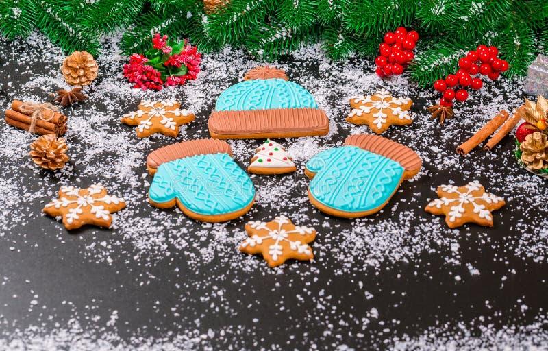 圣诞节背景曲奇饼 免版税库存照片