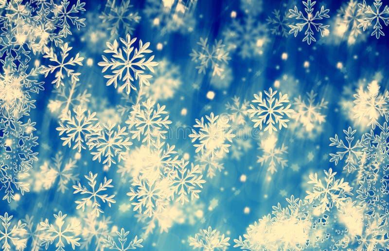 圣诞节背景蓝色冰葡萄酒 免版税库存照片