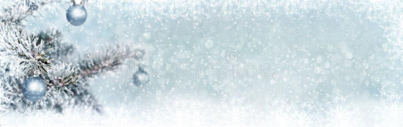 圣诞节背景,横幅 免版税库存照片