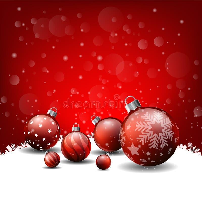 圣诞节背景,红色背景新年快乐 皇族释放例证