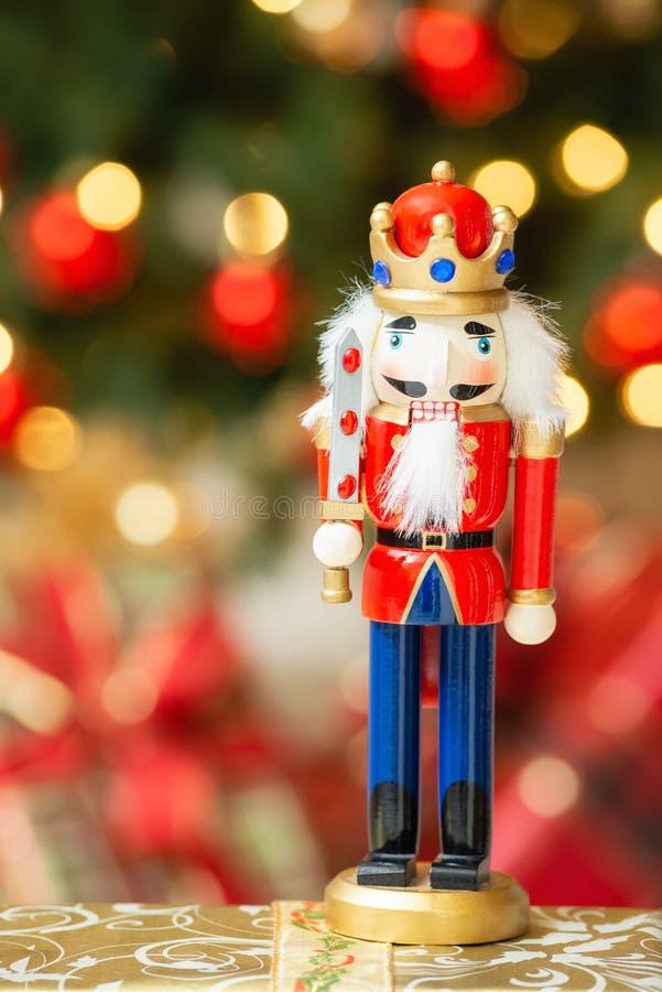 圣诞节胡桃钳小雕象 库存图片